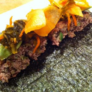 Nori Wrapped Burger | stephgaudreau.com
