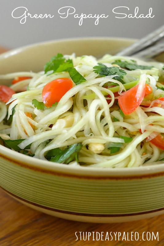 Green Papaya Salad | stephgaudreau.com