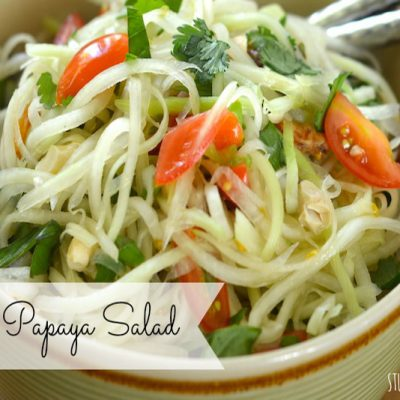 Green Papaya Salad | stephgaudreau.com
