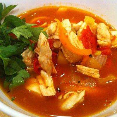 Southwest Chicken Soup | stephgaudreau.com