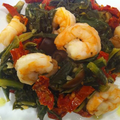 Shrimp and Greens | stephgaudreau.com