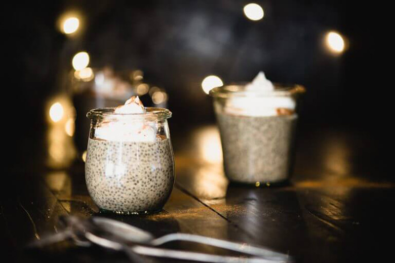 Eggnog Chia Pudding is a festive dessert that's dairy-free and paleo...and the best part is that it tastes just like eggnog. Simple to make! | StupidEasyPaleo.com