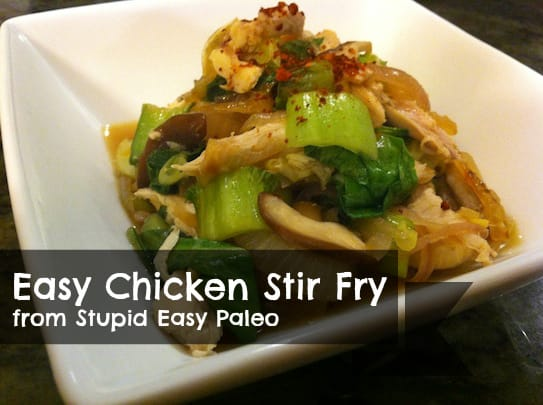 Easy Chicken Stir Fry is the perfect simple paleo and gluten-free weeknight dinner. Serve over cauliflower rice for a complete meal. | StupidEasyPaleo.com