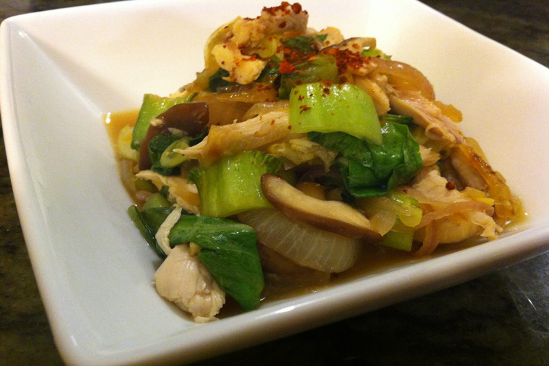 Easy Chicken Stir Fry is the perfect simple paleo and gluten-free weeknight dinner. Serve over cauliflower rice for a complete meal.   StupidEasyPaleo.com
