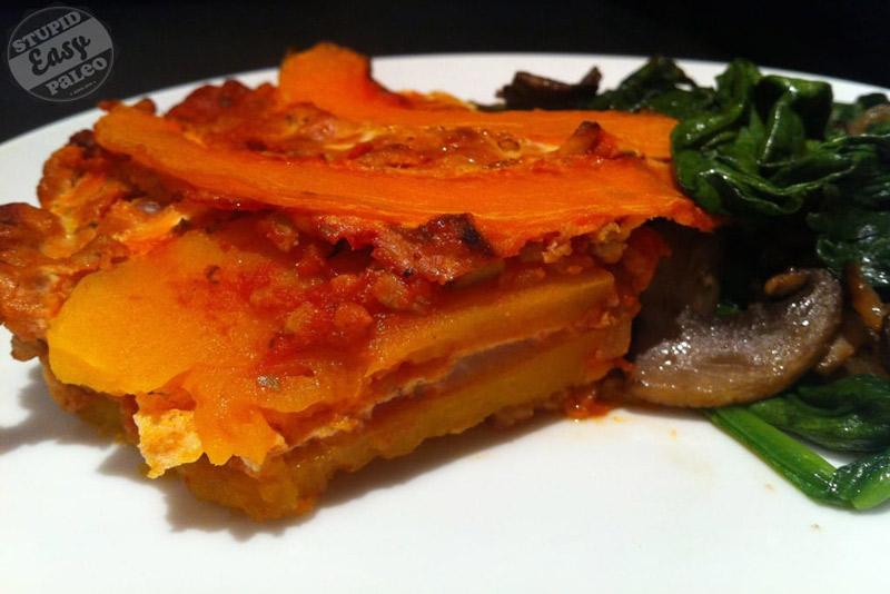 Butternut Squash Lasagna | stupideasypaleo.com