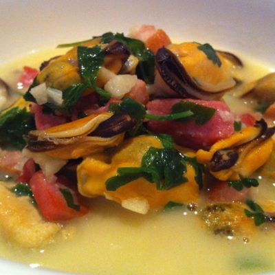 Mussels with Bacon in Lemon-Coconut Broth | stephgaudreau.com