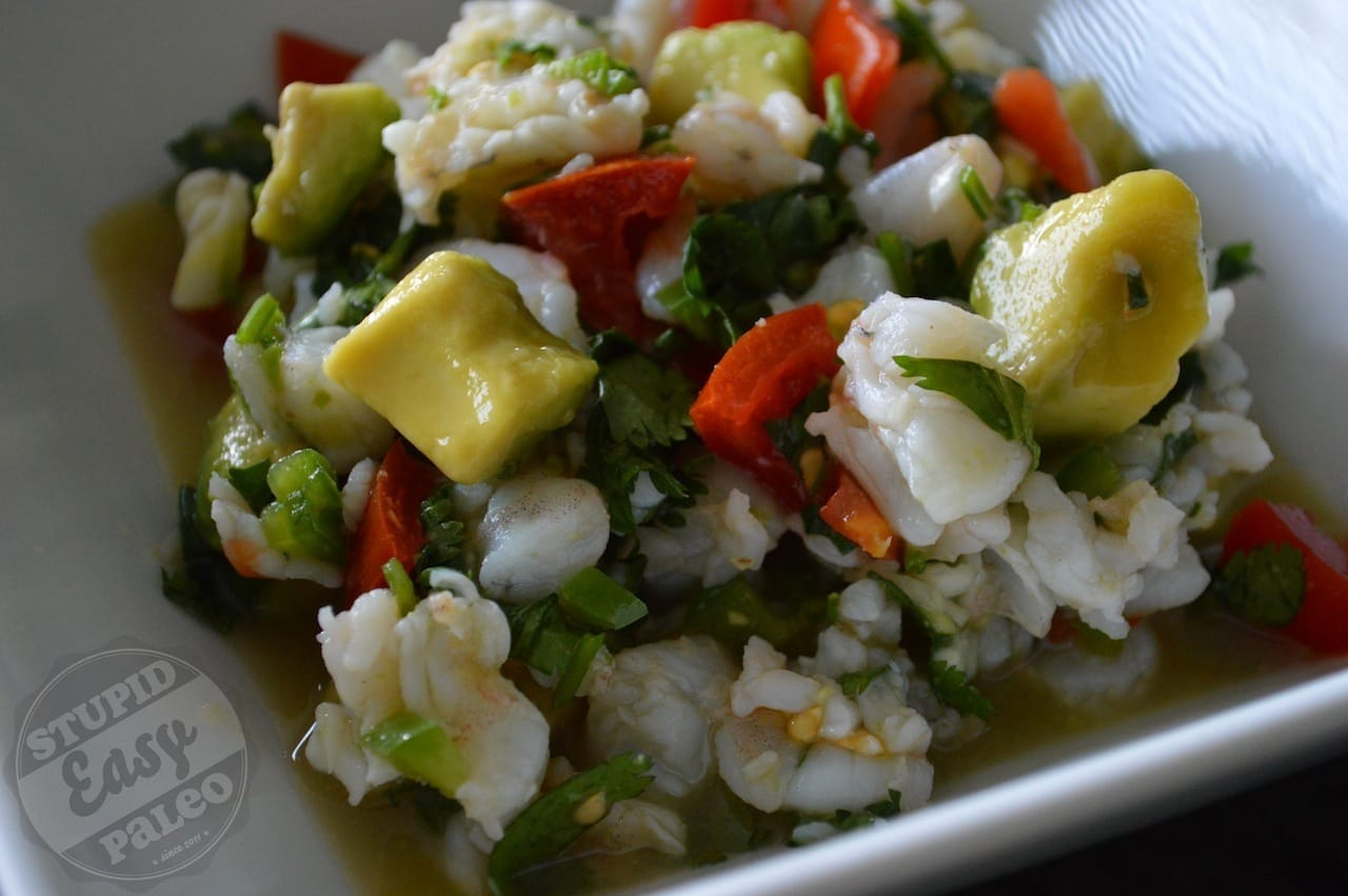 Simple Shrimp Ceviche | stupideasypaleo.com