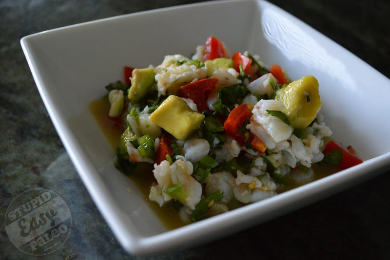 Simple Shrimp Ceviche | stephgaudreau.com