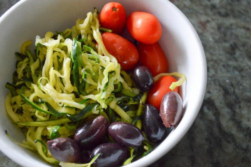 Cold Zucchini Noodle Salad | StupidEasyPaleo.com
