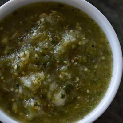 Roasted Salsa Verde | StupidEasyPaleo.com