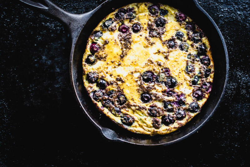 Sweet & Savory Blueberry Omelet Recipe | StupidEasyPaleo.com