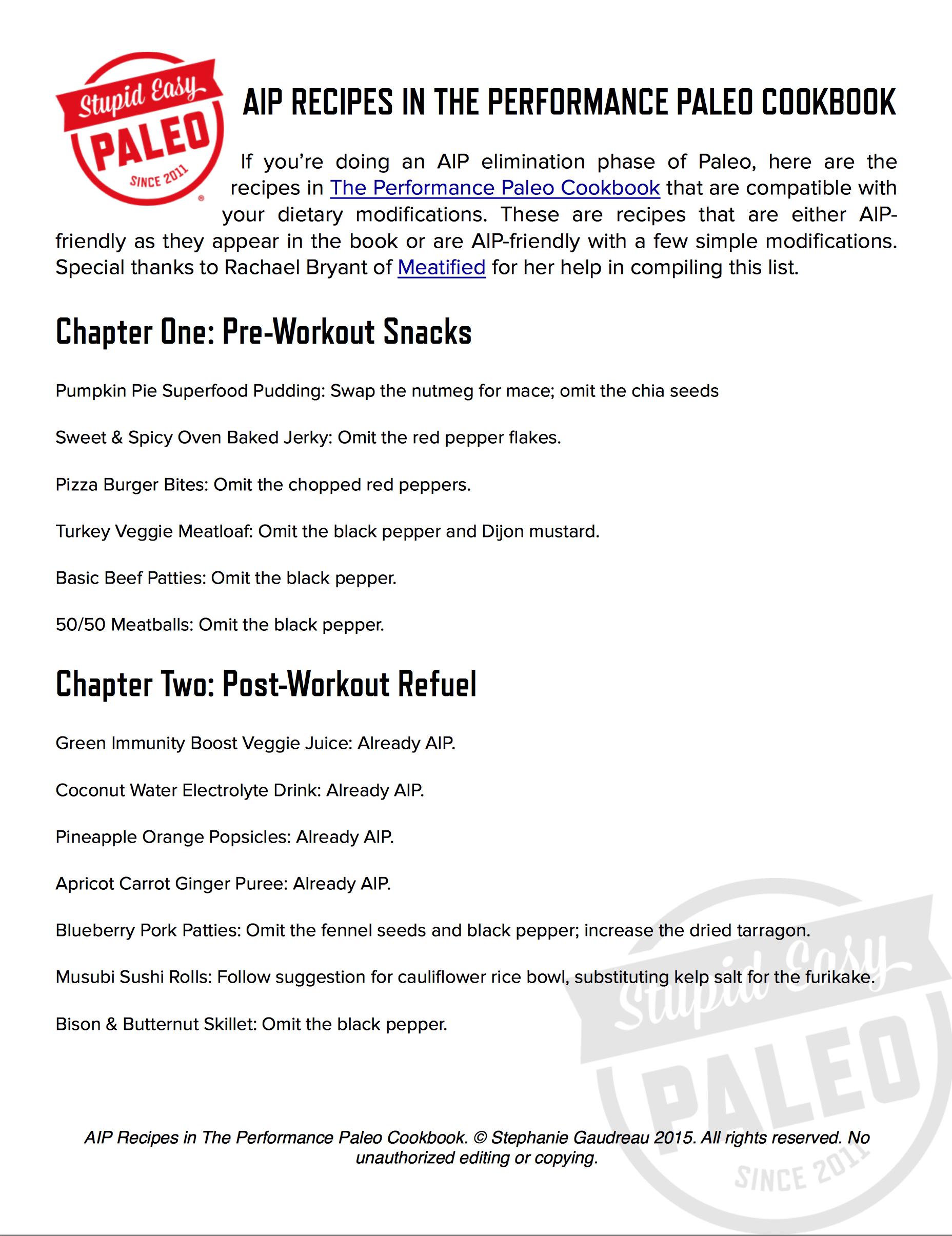 AIP Recipes in The Performance Paleo Cookbook   stephgaudreau.com