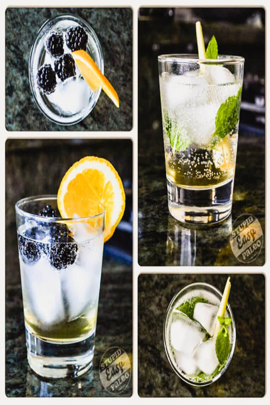 Easy Paleo Mocktails are a delicious, booze-free alternative to a party drink that'll make it easy for you to mingle. So many flavor combos! | StupidEasyPaleo.com