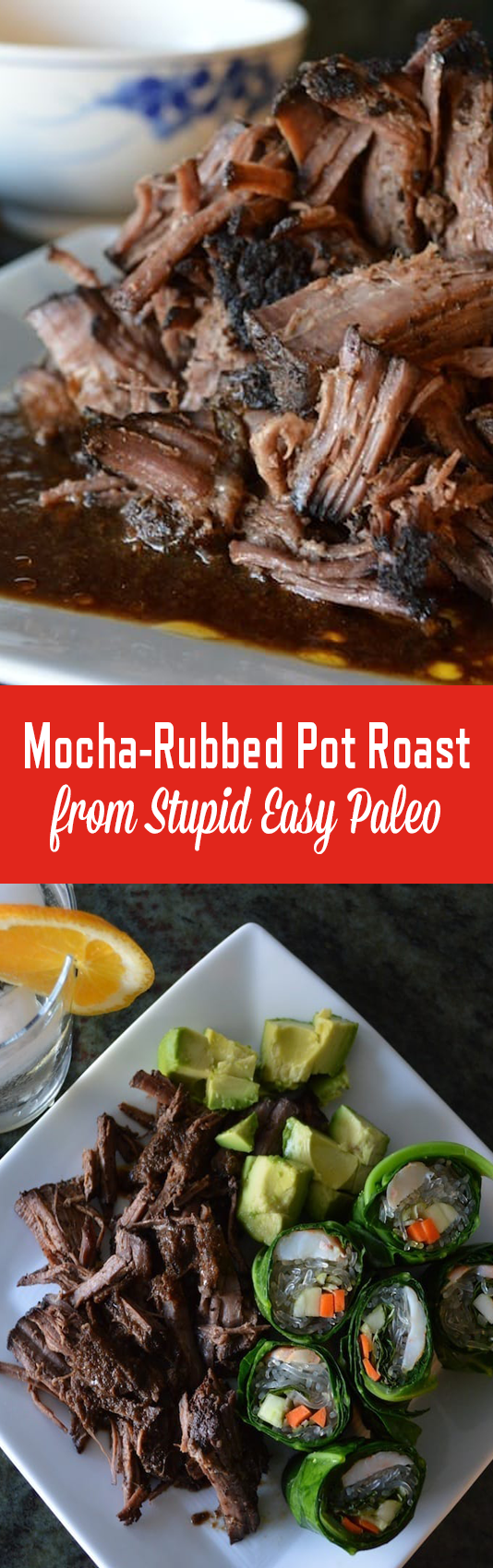 Slow Cooker Mocha-Rubbed Pot Roast is dusted with a delicious spice mixture, then cooked slowly so it's fall-apart tender. | StupidEasyPaleo.com
