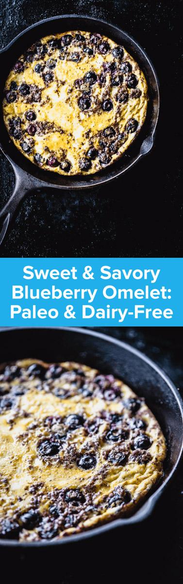 Sweet & Savory Blueberry Omelet Recipe | StupidEasyPaleo.com