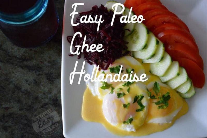 Easy Paleo Ghee Hollandaise | stupideasypaleo.com