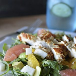 Citrus Avocado Salad with Chicken | stephgaudreau.com