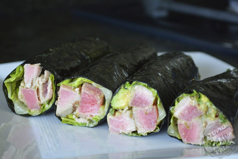 Ahi Tuna Salad Wraps | stephgaudreau.com