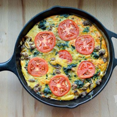 Hearty Spinach Beef Frittata | stephgaudreau.com