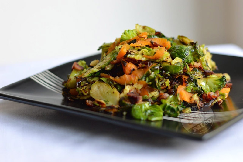 Garlic Ginger Brussels Sprouts | stephgaudreau.com