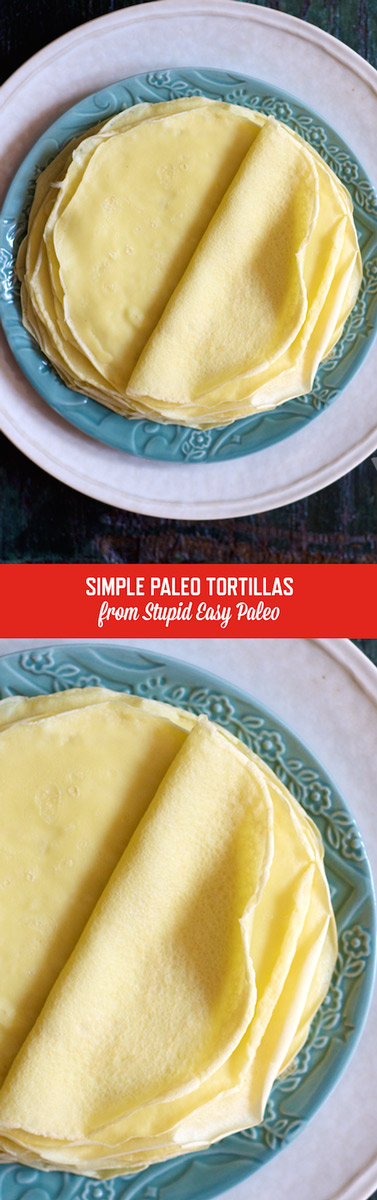 Simple Paleo Tortillas are so easy to make and won't break when folded! Gluten-free and paleo, these are a game-changer for paleo eaters! | StupidEasyPaleo.com