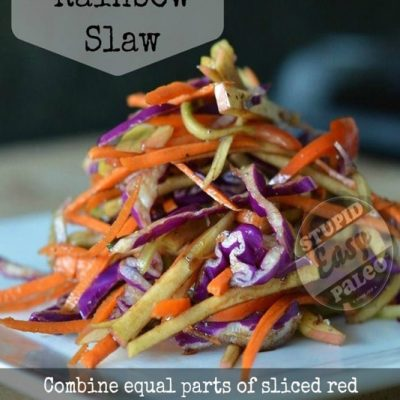 Simple Rainbow Slaw | stephgaudreau.com