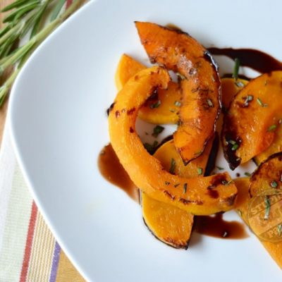 Rosemary Balsamic Butternut Squash | StupidEasyPaleo.com
