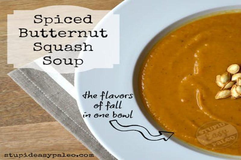 Spiced Butternut Squash Soup | stupideasypaleo.com