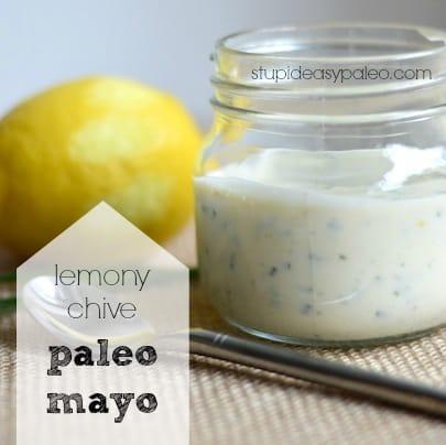 Lemony Chive Paleo Mayo   stupideasypaleo.com