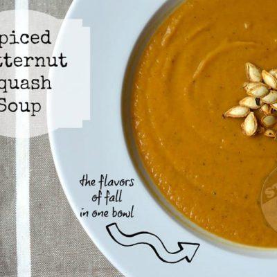Spiced Butternut Squash Soup | stephgaudreau.com