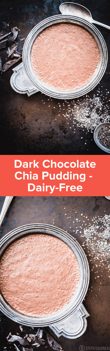 Delicious Paleo Dark Chocolate Coconut Chia Pudding recipe is the perfect rich treat for a special occasion, and it's dairy-free! | Stupideasypaleo.com