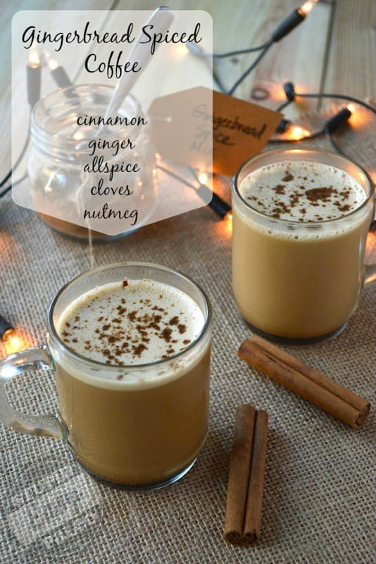 Gingerbread Spice Butter Coffee with warm cinnamon, ginger and allspice is the perfect hot drink on a cold winter morning! | Stupideasypaleo.com