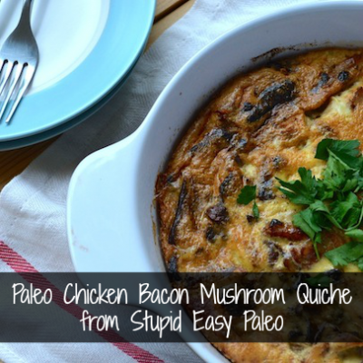 Paleo Chicken Bacon Mushroom Quiche | stephgaudreau.com