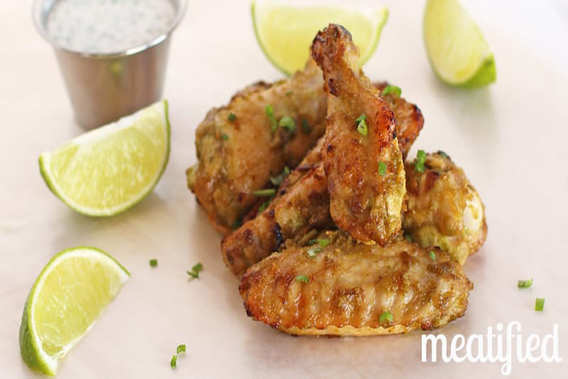Jalapeño-Lime Chicken Wings with Paleo Ranch Dressing Dip pack a punch of flavor with clean, real food ingredients. Perfect for parties! | Stupideasypaleo.com