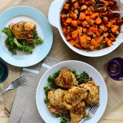 Crispy Italian Chicken Thighs | stephgaudreau.com