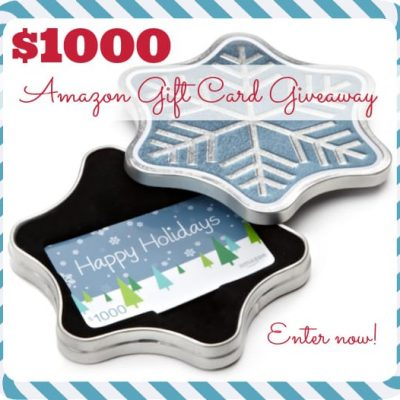 $1000 Amazon Gift Card December Giveaway | stephgaudreau.com