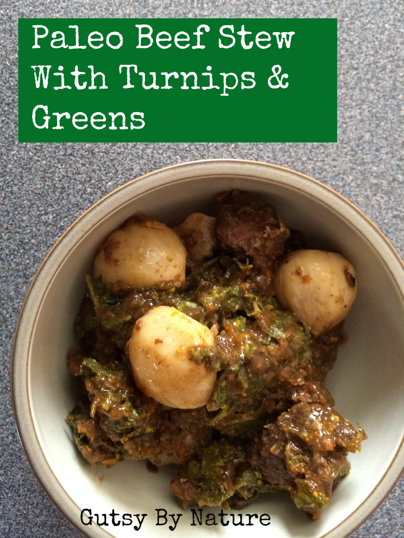 Paleo Beef Stew with Turnips & Greens | stupideasypaleo.com