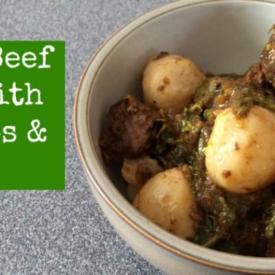 Paleo Beef Stew with Turnips & Greens from Gutsy By Nature | stephgaudreau.com