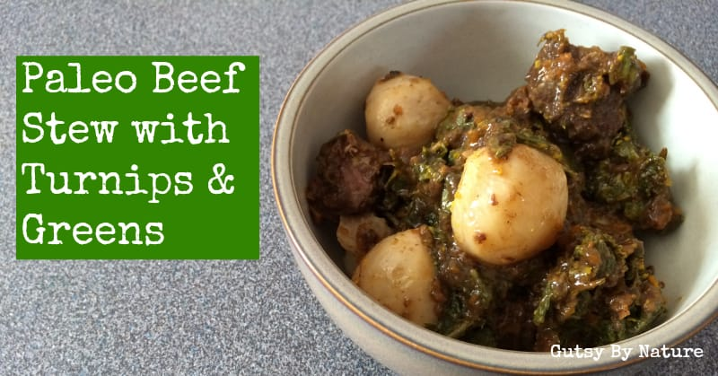 Paleo Beef Stew with Turnips & Greens | stephgaudreau.com