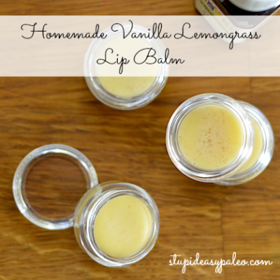 Homemade Vanilla Lemongrass Lip Balm | stephgaudreau.com