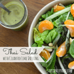 Thai Salad with Cilantro Lime Dressing | stupideasypaleo.com