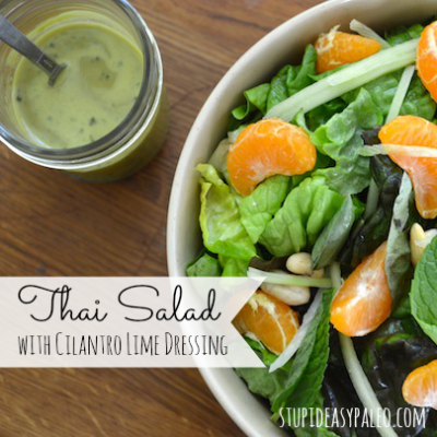 Thai Salad with Cilantro Lime Dressing | stephgaudreau.com