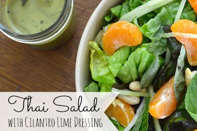 Thai Salad with Cilantro Lime Dressing | stephgaudreau.com
