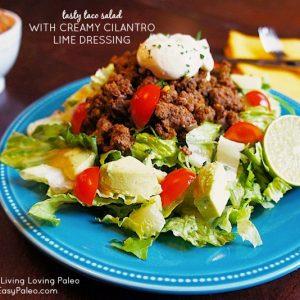 Tasty Taco Salad with Creamy Cilantro Lime Dressing | stephgaudreau.com