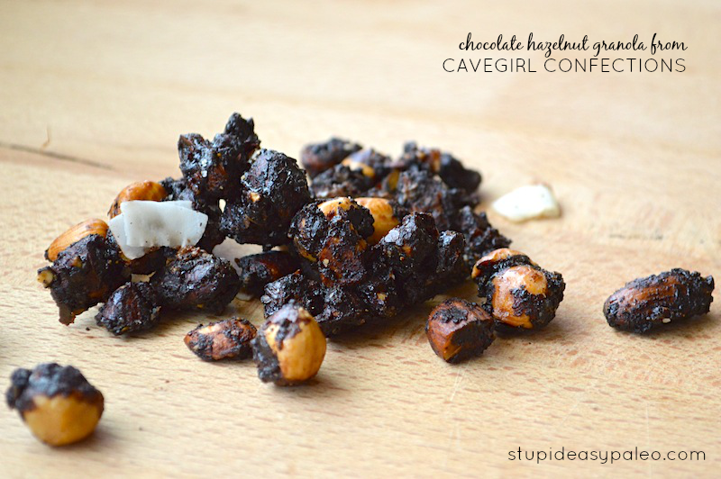 Chocolate Hazelnut Granola from Cavegirl Confections | stupideasypaleo.com