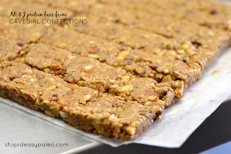 AB & J Protein Bars from Cavegirl Confections | stupideasypaleo.com