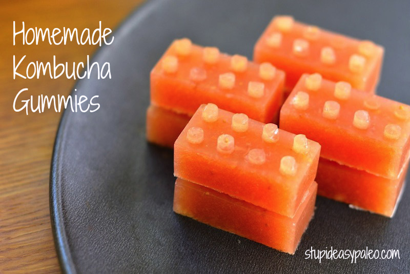 These simple homemade kombucha gummies are a fun way to get more gelatin in your diet with a boost of probiotics! | StupidEasyPaleo.com