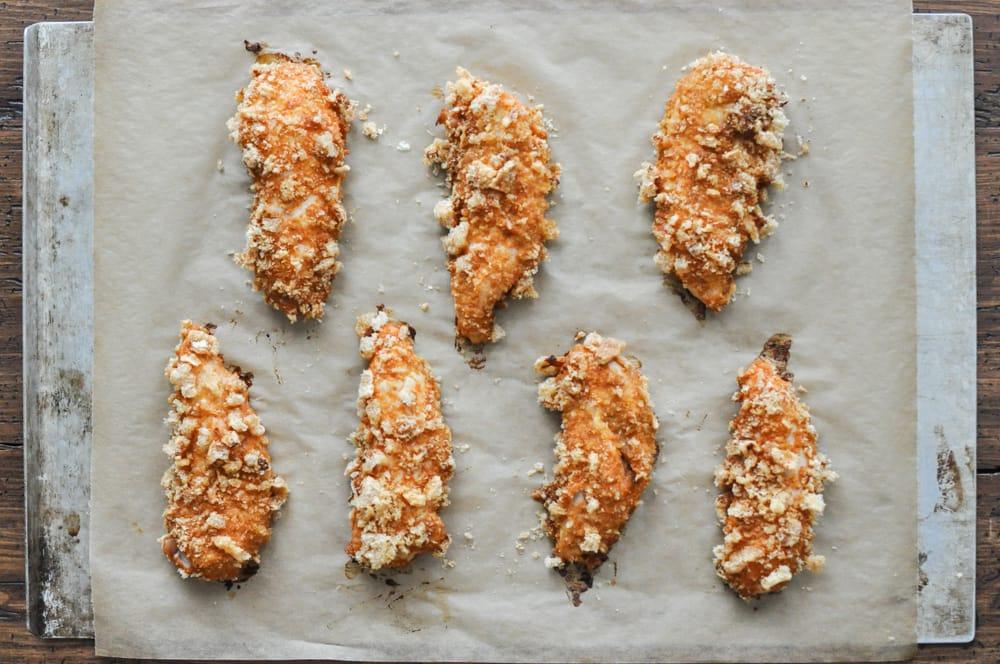 Crispy Buffalo Chicken Fingers Recipe | stephgaudreau.com