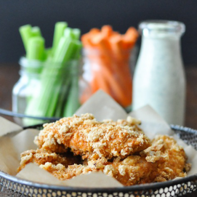Crispy Buffalo Chicken Fingers—Fed & Fit | stephgaudreau.com