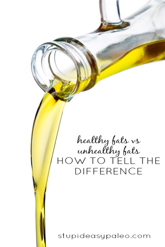 Healthy fats vs. unhealthy fats: What's the difference? Learn how to pick which fats and oils are best for overall health. | StupidEasyPaleo.com